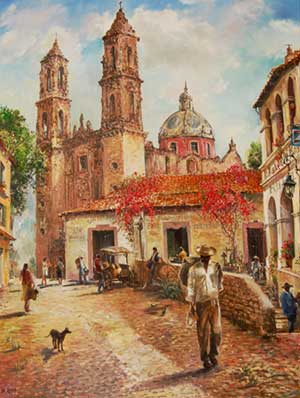 old-mexico-taxco-40x30